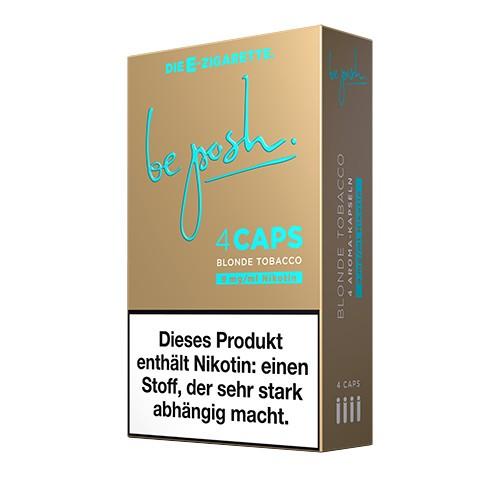 CAPS Blonde Tobacco Geschmack mit Nikotin. Eine Packung enthält vier CAPS.