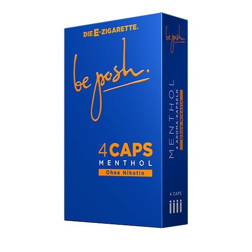 CAPS Menthol Geschmack ohne Nikotin. Eine Packung enthält vier CAPS.
