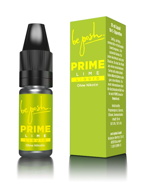PRIME E-Liquid - Limetten-Aroma - ohne Nikotin - Made in Germany