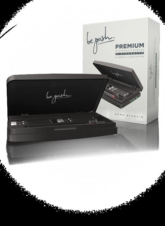 be posh E-Zigarette PREMIUM Tobacco ZERO ist die E-Zigarette für den langen Genuss