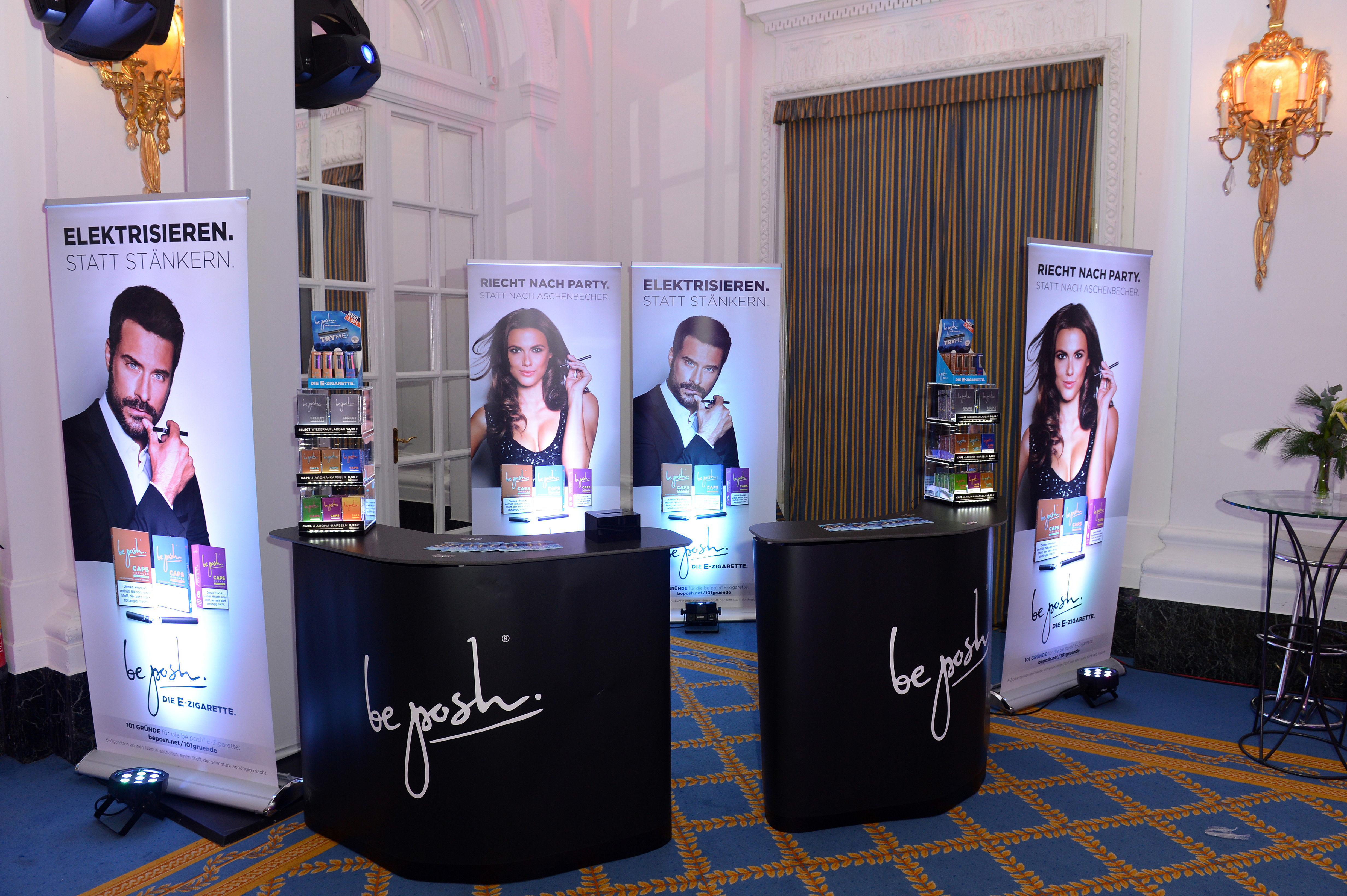 Der Stand von be posh auf der Movie Meets Media in Hamburg