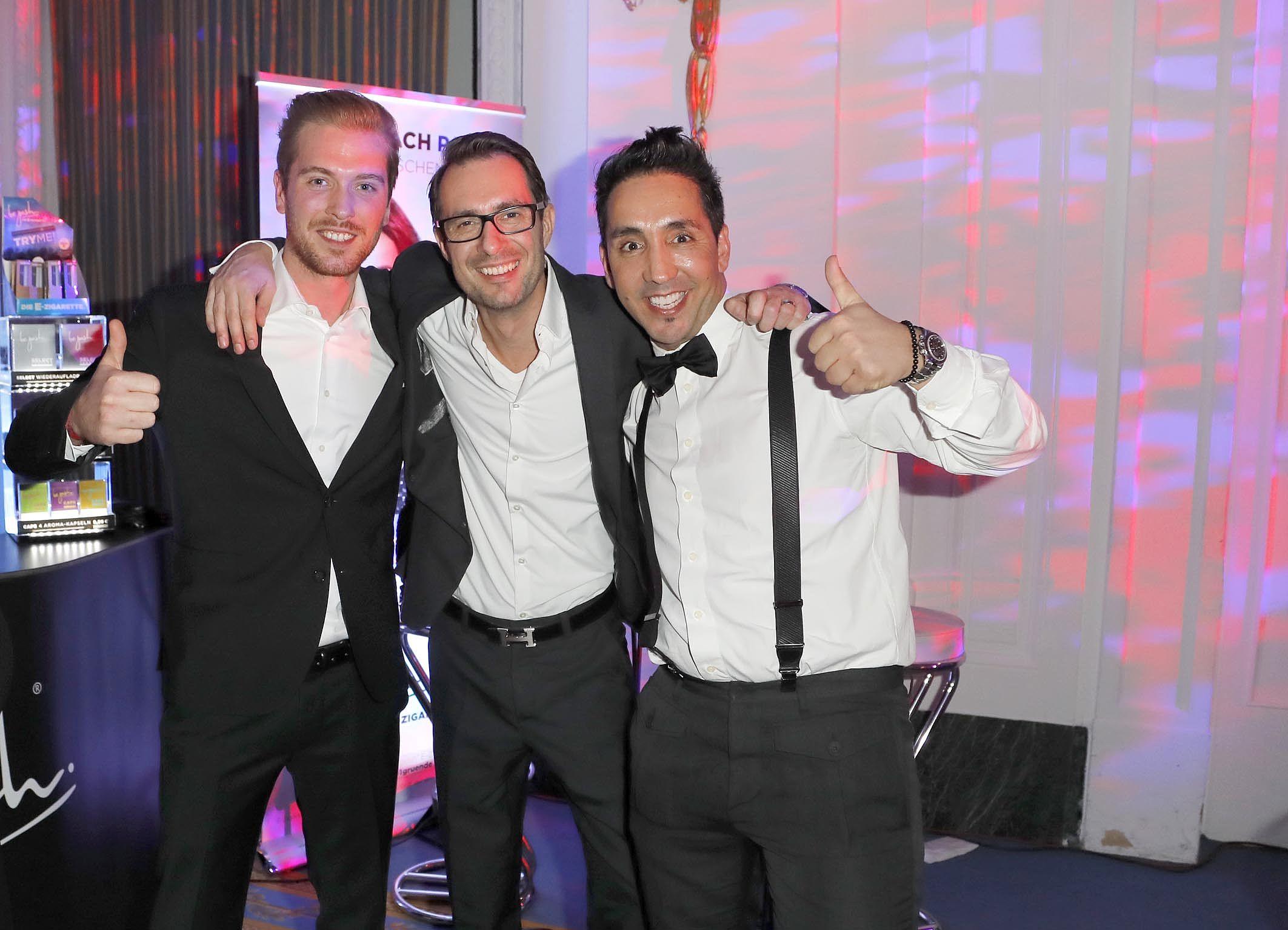 Meet the team - Flo, Timo und Sadik auf der Movie Meets Media in Hamburg