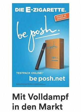 Werbung für E-Zigaretten auf Plakaten